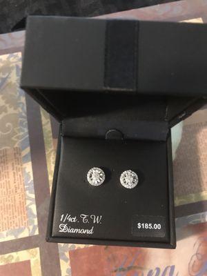 Diamond cluster stud earrings for Sale in Parkville, MD
