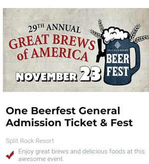 2 Beerfest tickets for Sale in WLKS BARR Township, PA
