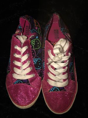 Hello kitty sparkling sneakers size 3 for Sale in Winter Springs, FL
