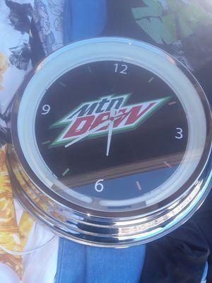 Antique mountain dew clock for Sale in Tucson, AZ