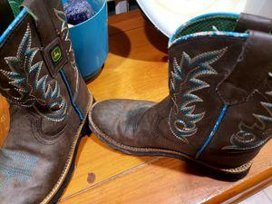 Girls sz 1 John deere boots for Sale in Spring Hill, FL