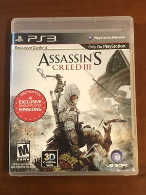 Assassin's Creed III for PS3 for Sale in Vancouver, WA