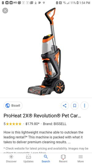 BISSELL ProHeat 2X® Revolution® Pet Carpet Cleaner | 1548 for Sale in Redlands, CA