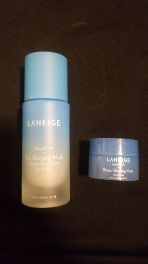 Laneige full size eye sleep mask and mini sleep for face for Sale in Vancouver, WA
