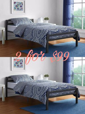 New 2 for $99 twin Platform Beds no mattresses for Sale in Dallas, TX