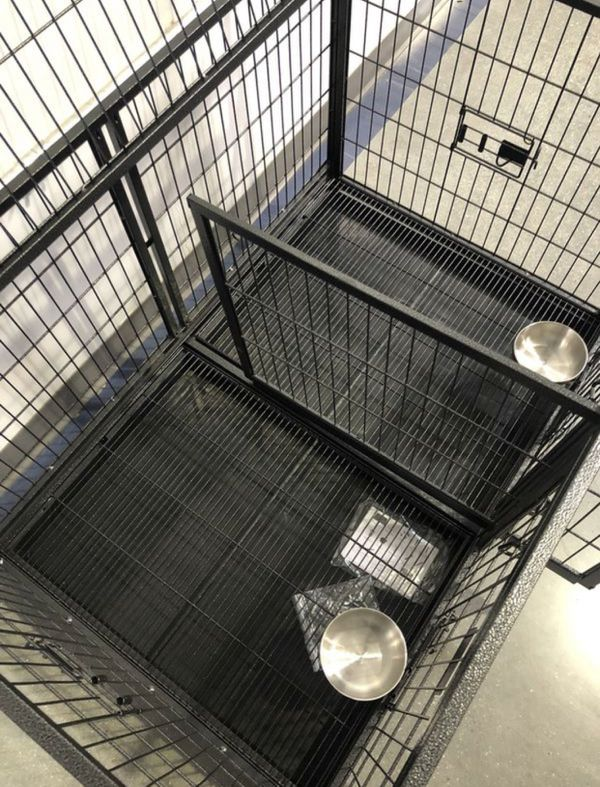 Dog Pet Cage Kennel Size 43 With Divider And Feeding Bowls New In Box 📦