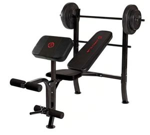 Standard bench with 80lb weight set for Sale in Bell, CA