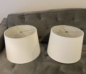 Two Off White Linen Lamp Shades for Sale in Woodbridge, VA