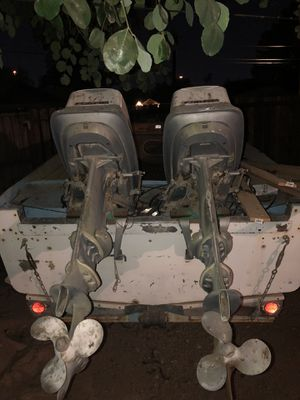 Aluminum boat 18- 2 evinrude engines 33 onboard - don't ask me about the engines I have no idea - project boat for Sale in Phoenix, AZ