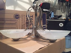 Light Fixture - 3 light Brushed Nickel for Sale in Orland Park, IL