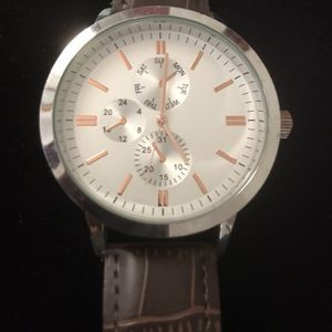 Watch Big Face Leather Band for Sale in Beaumont, CA