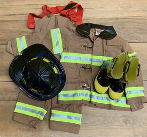 Little boys or girls fire turnouts, boots and helmet. New. for Sale in Phoenix, AZ
