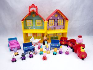 Peppa Pig Lot : Deluxe House, Gertrude Train, Car~ Figures, And Accessories for Sale in Humble, TX