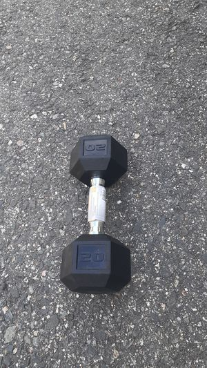 20lb Hex Rubber Dumbbell for Sale in Newton, MA