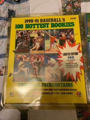 1990-91 baseball 100 hottest rookie cards for Sale in Port Charlotte, FL