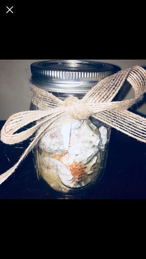 Shabby Chic Genuine Seashell Filled Glass Mason Jars Nautical Accent Decor, Sm Med or Large! for Sale in New Haven, CT