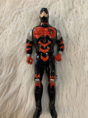 "DAREDEVIL Vintage 1990 Toy Biz 5"" Action Figure Marvel Comics Black/Red/Silver for Sale in Fayetteville, NC"