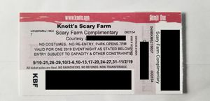 Knotts Scary Farm for Sale in Ontario, CA