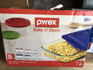 NEW Pyrex 18 Piece Glass Baking and Storage Containers for Sale in Tustin, CA