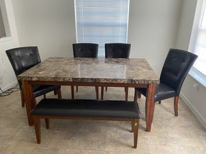 6 piece Marble Top Dinning Set for Sale in San Angelo, TX