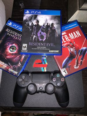 PlayStation 4 with controller and games for Sale in Stockton, CA
