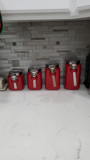 4 Red Countertop Storage Containers for Sale in Temecula, CA