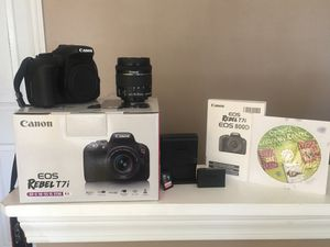 Canon EOS Rebel T7i DSLR Camera w/ 18-55mm Lens& 16GB SD Card for Sale in Douglasville, GA