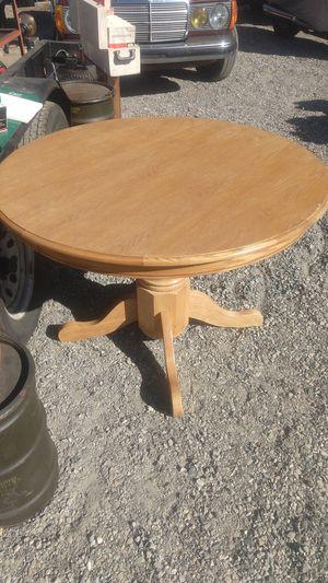 Solid oak table for Sale in Wenatchee, WA