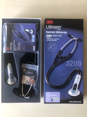 BRAND NEW, 3M Littmann Electronic Stethoscope, Model 3200BK, BLUETOOTH, black for Sale in College Park, MD