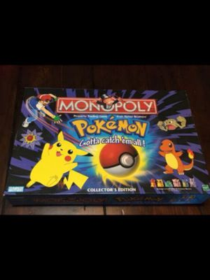 1999 Pokémon Monopoly collectors edition. 100% complete-like new for Sale in North Lauderdale, FL
