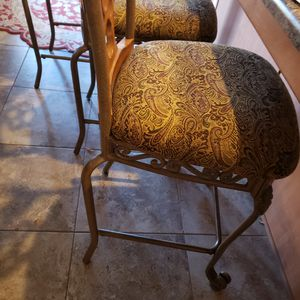 3 Bar/counter Wrought iron stools for Sale in Phoenix, AZ