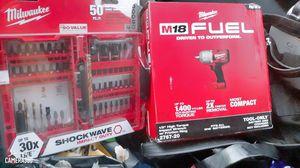Milwaukee and tool set for Sale in San Bernardino, CA