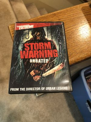 Storm Warning Unrated DVD Movie 2007 Nadia Fares Robert Taylor horror for Sale in Buena Park, CA