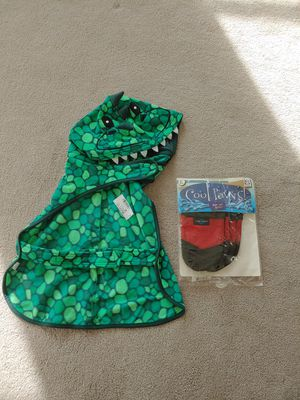 Dog dino shirt / PJs and Dog shoes / Boots (XL); New; $20 for Sale in Amarillo, TX