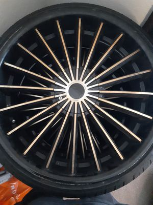 "22"" inch rims w/ tires $300 OBO for Sale in Orlando, FL"