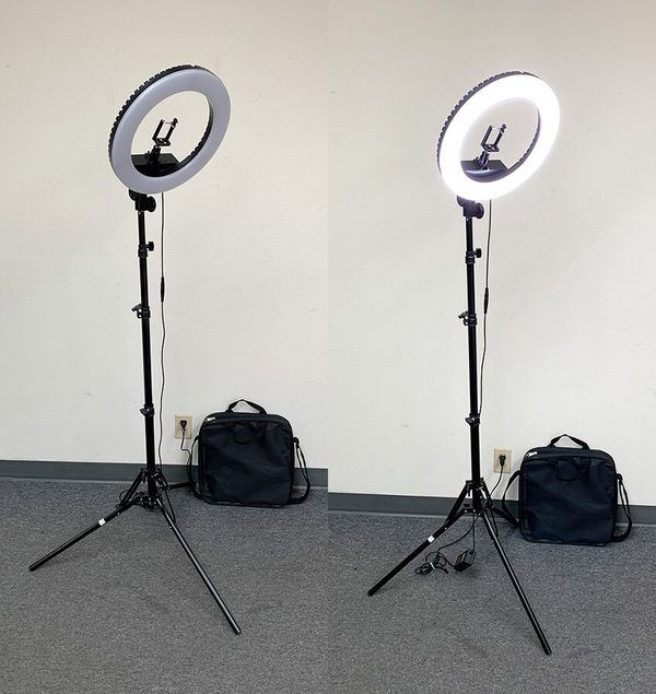 """(NEW) $75 each LED 13"""" Ring Light Photo Stand Lighting 50W 5500K Dimmable Studio Video Camera"""