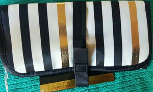 GOLD and stripes Makeup bag- see photos for Sale in Rialto, CA