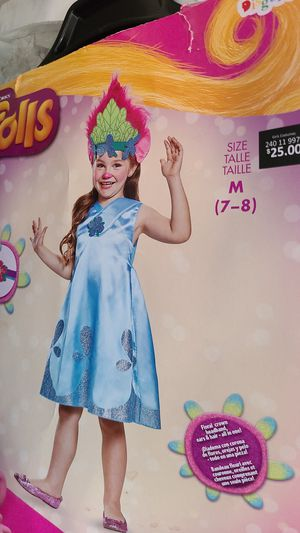NEW trolls POPPY SIZE 7-8 HALLOWEEN COSTUME for Sale in Moreno Valley, CA