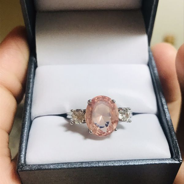Silver morganite ring women's jewelry accessory fashion ring
