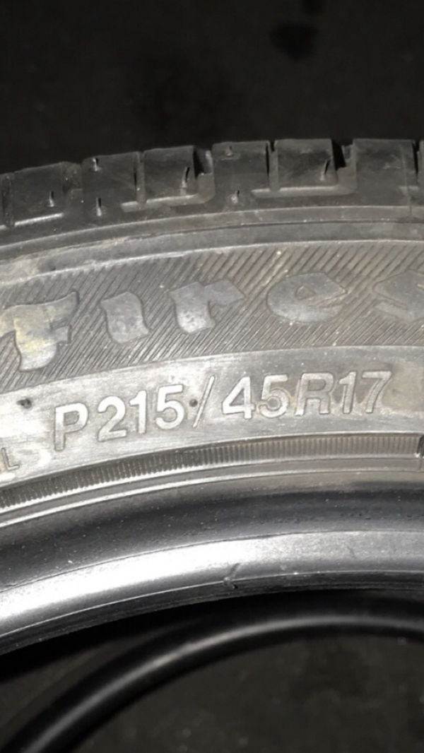 Wheels and tires size 17