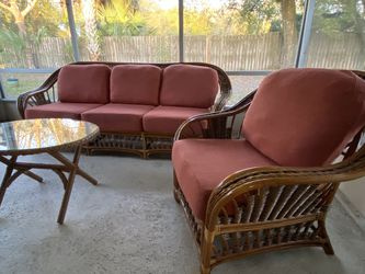 Leaders Rattan Furniture Set- Couch, Chair, Table for Sale in Winter Park,  FL