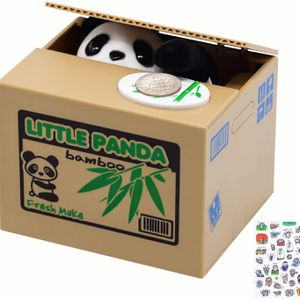 Free Breath Piggy Bank, Mischief Panda Stealing Coin Bank, Cute Panda Piggy Bank for Kids, Automated Panda Coin Saving Piggy Bank for Boys, Girls, Adu for Sale in Fountain Valley, CA