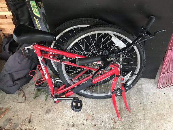 Folding bike. Bicycle