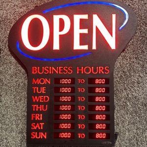 """Open"" Sign for Sale in Auburn, WA"