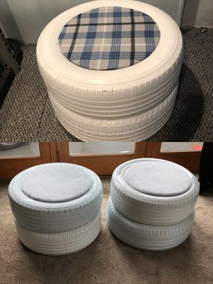 3 Storage seats/ottomans made out of recycled materials. $40 each or 3 for $110!!! Their great for basements, outdoor furniture, etc. Thanks! for Sale in Southampton, PA