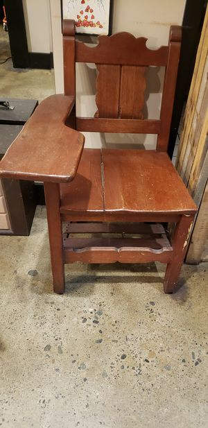 "Antique wooden ""school chair"" for Sale in Seattle, WA"