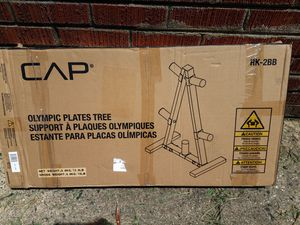Olympic weight rack; CAPS; see pic for measurements; open box but not needed; if you need rack for standard rack ask me about another post - $90 for Sale in Greensboro, NC