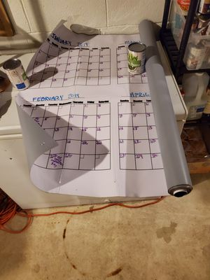 Extra LARGE 6ft 365 day dry erase calendar for Sale in Pickerington, OH