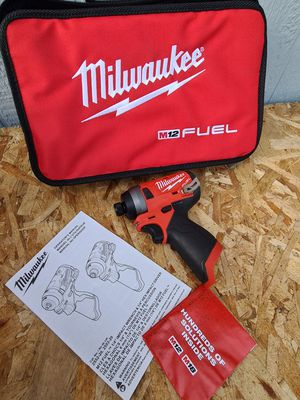 Milwaukee M12 FUEL 12-Volt Lithium-Ion Brushless Cordless 1/4 in. Hex Impact Driver (Tool-Only for Sale in Snohomish, WA
