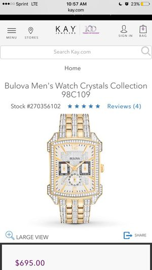 Bulova Mens Watch Crystals Collection 98C109 for Sale in Columbus, OH